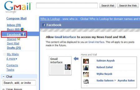 facebook gmail