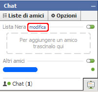 Bloccare chat facebook