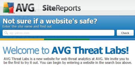 AVG Site reporter