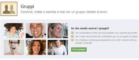 nuovi gruppi facebook